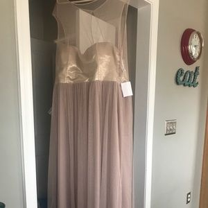 NWT After Six Size 22 Tulle Dress in Topaz